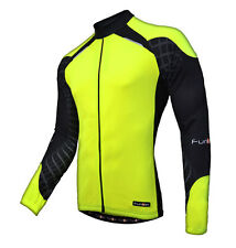 Funkier Force Long Sleeve Cycling Jersey / Top - Yellow - J730
