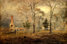 GRAY DAY GOOCHLAND VIRGINIA AMERICAN LANDSCAPE PAINTING BY GEORGE INNESS REPRO