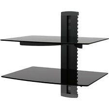 Universal 2 -Shelf  Wall Mount with Glass for Audio or  Video Equipment