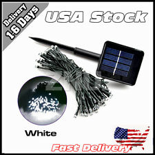 ON SALE Solar LED Fairy Light String Party Garden Decor 8M White Lamp Warm US CE