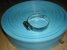 "Swimming Pool Discharge Backwash  1-1/2"" PVC Hose with Metal Clamp"