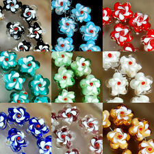 18-20mm Lampwork Glass Flower Beads 10pcs Pick Color