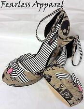 IRON FIST LACEY DAYS SKULL SAILOR NUDE PLATFORM HEELS SHOES WOMENS SIZE 10 & 11