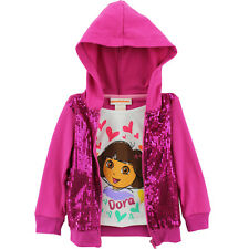 Dora the Explorer Toddler Girls One-Piece Hoodie Jacket Top 8E7311 2T 3T 4T