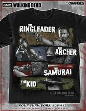AUTHENTIC THE WALKING DEAD FOUR SURVIVORS DARYL ARCHER RICK AMC T SHIRT S-3XL