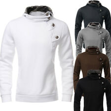 Men Casual Hooded Top Crosshatch Hoodie Hoody Jumper Sweatshirt Jacket Pullover