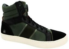 G-star Raw Saraband Men's Black Lace Up Leather Hi Top Trainers Boots New