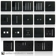 Trendi Modern Designer Black light switch plug socket rocker phone/pc sockets