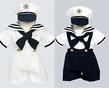 Baby toddler Boy white navy blue sailor suit set size 6m 12m 18m 24m 2T 3T 4T