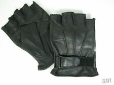 NAPA GLOVE CO - Fingerless Goatskin - Motorcycle Riding Leather Biker Gloves