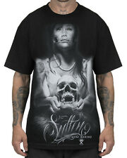 Sullen Clothing Moni Marino Badge Mens T Shirt Black Skull Tattoo Goth Tee