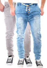 SUBLEVEL URBAN HERREN HOSE JOGG JEANS LOOK JOGGING SWEAT HOSE DENIM CHINO