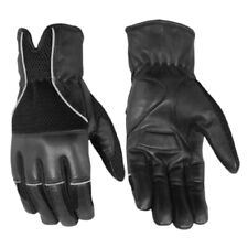 MOTORCYCLE GENUINE LEATHER RACING DRIVING RIDING GLOVES w/ GEL PADDING - MA7