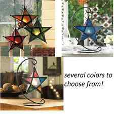 Moroccan hanging STAR shaped metal Candle holder lantern wedding centerpiece