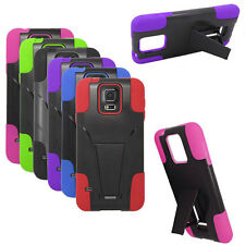 Phone Case For T-Mobile Samsung Galaxy S5 Rugged Hard with Kickstand
