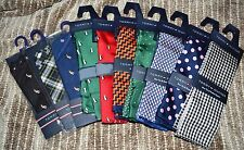 NWT Tommy Hilfiger 100% Silk Pocket Square Handkerchief CHOOSE COLOR
