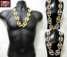 Hip Hop Iced Out Chunky Chain Necklace Cable Cuban Link Oval Chain New