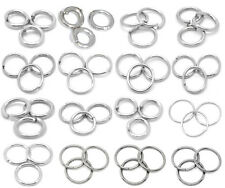 Wholesale Silver Tone Open Jump Rings Jewelry Finding 3mm~14mm