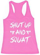 SHUT UP and SQUAT women workout tank top t-shirt - gym clothes fitness yoga lift