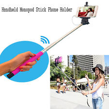 Wire Extendable Bluetooth Selfie Handheld Monopod Stick Phone Holder for iPhone
