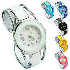 Womens Hot Popular Cute Stainless Steel Quartz Dress Bracelet Bangle Wrist Watch
