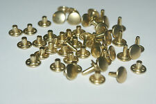 25 TWO PART STRONG  DOUBLE CAP RIVETS  9mm/10mm  BRASS - NICKEL - BLACK