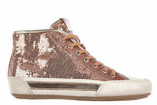 HOGAN WOMEN'S SHOES HIGH TOP SUEDE TRAINERS SNEAKERS H 207 PINK  F52