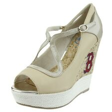 Cuce Shoes MLB Baseball Women's Boston Red Sox The Winning Wedge Heels