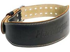 "Harbinger 4"" Padded Leather Weight Lifting Belt"