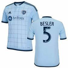 adidas Sporting Kansas City  MLS 2015 / 2016 Matt Besler # 5 Soccer Home Jersey