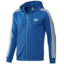 Adidas Originals SPO Flock Film Hoodie Hooded Jumper Trefoil Zip Jacket Blue