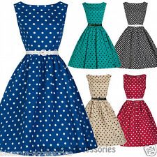 RKB5 Lindy Bop Audrey Polka Dots 50s Rockabilly Vintage Pin Up Swing Dress Plus