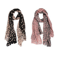New Lady Womens Long Polka Dot Scarf Wraps Shawl Stole Soft Scarves Stylish
