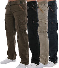 GEOGRAPHICAL NORWAY HERREN CARGO HOSE FREIZEIT HOSE mit GÜRTEL PANTS security