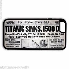 TITANIC NEWS PAPER SAMSUNG GALAXY & iPHONE CELL PHONE HARD CASE RUBBER COVER