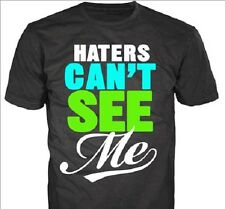 "NEW Boys' Humor Graphic Tee "" Haters Can'ts see Me"" Black Youth Size 18"