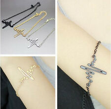 1pc Vogue Simple Frequency Design Chain Lady Party Cuff Bracelet Bangle 3 Color
