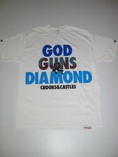 CROOKS AND CASTLES X DIAMOND SUPPLY CO WHITE Collaboration Shirt TEE Collab L