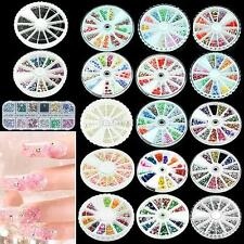 FIMO Polymer Rhinestone Glitter Nail Art Tips Slice 3D For Phone Book Decoration