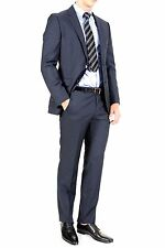 HUGO BOSS The James4 Sharp6  Men's Suit Super 120 Italian Virgin Wool Navy Blue