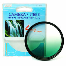 Graduated Green Color Lens Filter Screw Mount 46/49/52/55/58/62/67/72/77/82 mm