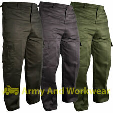 6 Pocket Plain Combat Cargo Work Trousers Mens Work Wear Pants Security Police