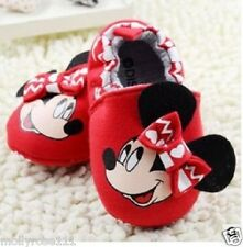 Cute Cotton Baby Girls Minnie Mouse Red Disney Shoes Pre Walkers