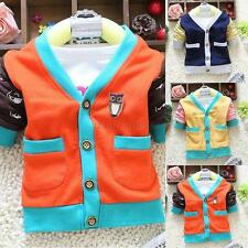 0-4Y Kids Baby Boy Spring/Summer Casual Outwear Clothing Jacket Coat Costume D54