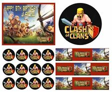 CLASH OF CLANS Birthday Party Cake Edible Image Toppers, Cupcakes, or Sides