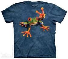 THE MOUNTAIN VICTORY FROG PEACE SIGN LOVE HIPPY AMPHIBIAN 3D T TEE SHIRT S-5XL