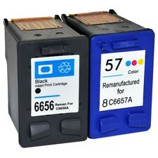 56 C6656AE & 57 C6657AE Remanufactured Black & Colour Inks For HP Printers