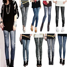 Sexy Womens Denim Jeans Skinny Leggings Jeggings Stretch Pencil Pants Trousers