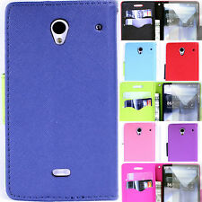 Wallet Pouch Flip Phone Cover Case and Screen Protector for Sharp Aquos Crystal