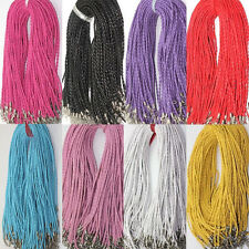 Lots 5-50Pcs Leather Braid Rope Cord Lobster Clasp Chain Necklace Bracelet 46cm